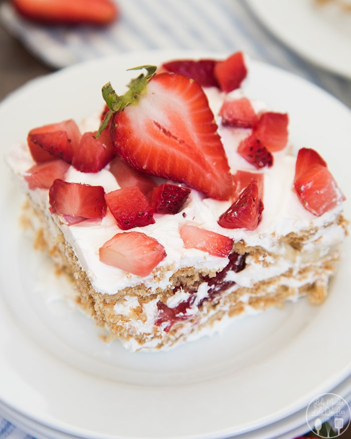 Strawberry Banana Icebox cake