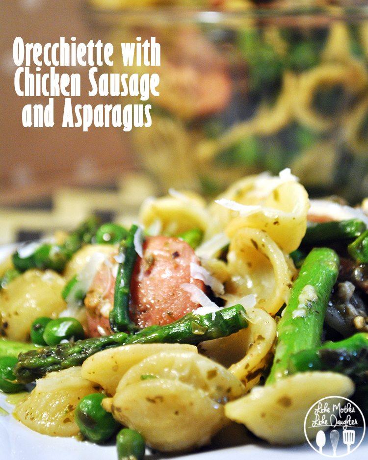 Orecchiette with chicken sausage - a delicious pasta with chicken sausage and vegetables for a perfect dinner!