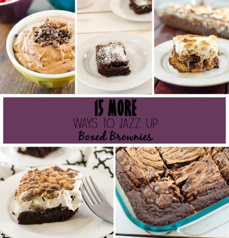15 more ways to jazz up boxed brownies!