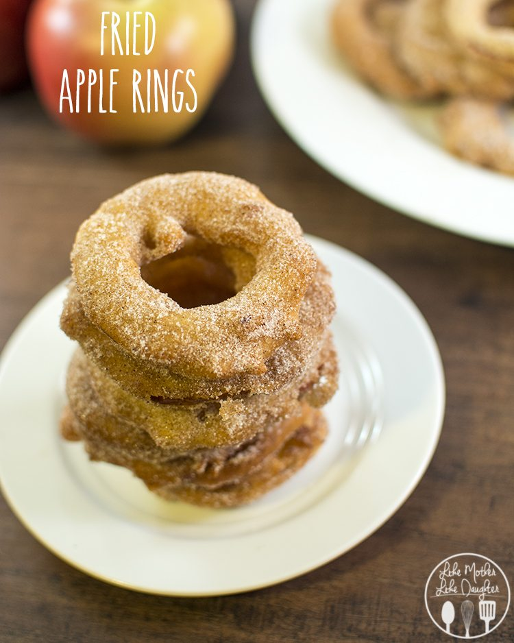 Cinnamon Sugar Fried Apple Rings - these delicious apple rings are coated in a sweet batter then dipped in cinnamon sugar for an amazing treat!