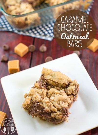 caramel chocolate oatmeal bars 3