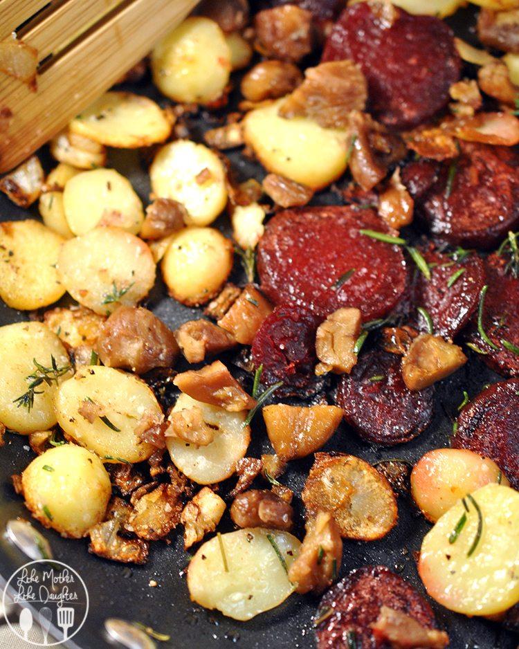 Skillet Potato Beet Chesnut 5