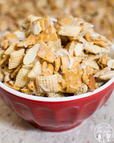 gooey coconut almond chex mix 2