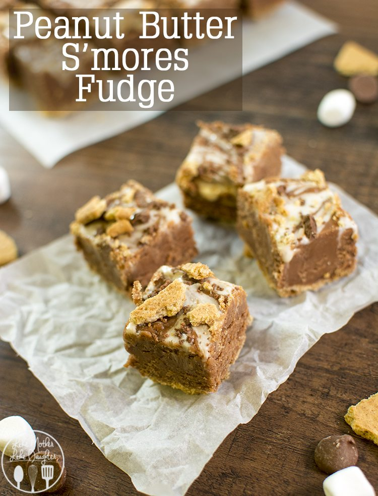 Peanut Butter S'mores Fudge - this is the best fudge ever, its got a graham cracker crust, the creamiest chocolate peanut butter fudge in the middle and is topped with a marshmallow swirl. Perfect for a holiday treat!