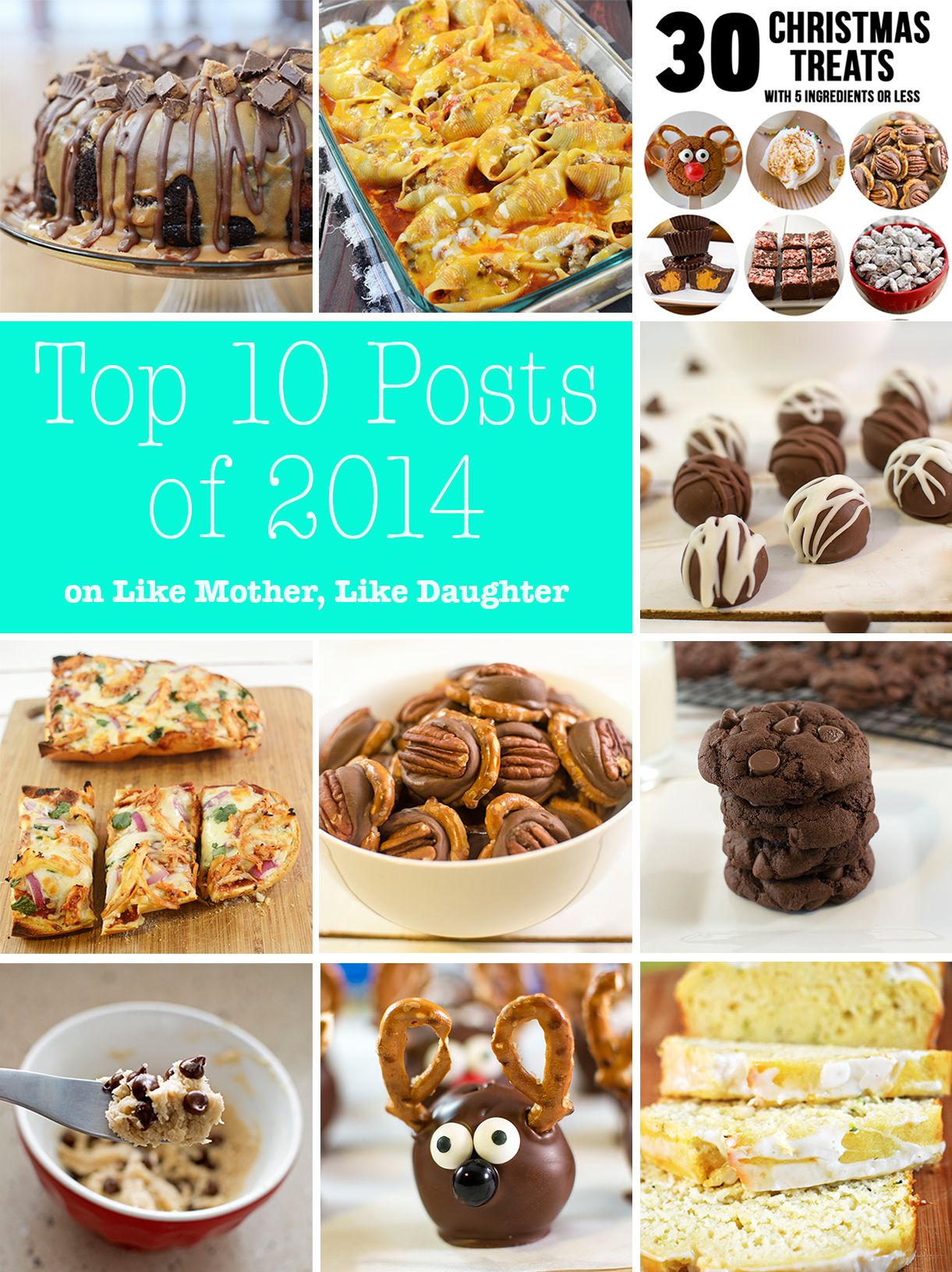 Top 10 Posts of 2014 - our top 10 most popular posts from the year of 2014. So many delicious choices from BBQ french bread pizza to peanut butter chocolate bundt cake!