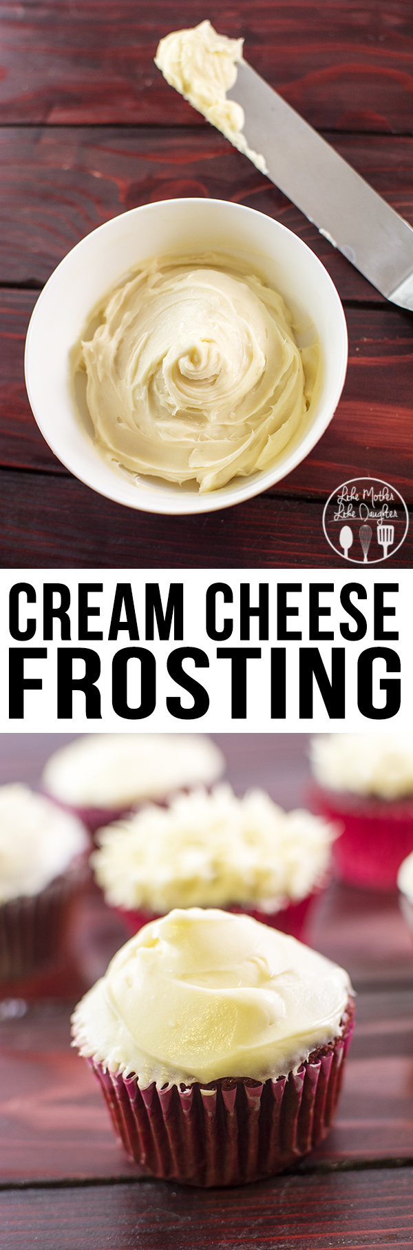 Cream Cheese Frosting that is so smooth, tangy and sweet, perfect for any cakes, cookies, cinnamon rolls, or to eat by the spoonful!