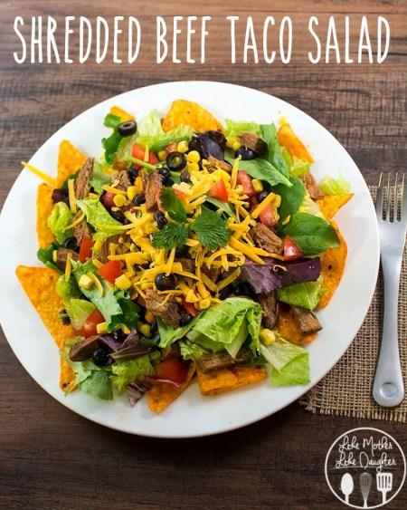 shredded beef taco salad 4