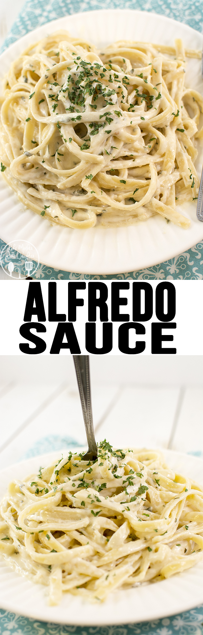 This recipe for alfredo sauce is the best ever. It's thick, rich, and creamy, and only has 4 ingredients! Its perfect with so many of your favorite dishes!