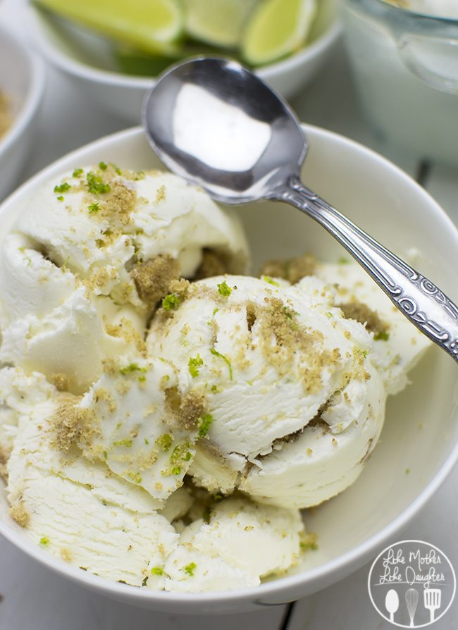 No Churn Key Lime Pie Ice Cream - This No Churn Key Lime Pie Ice Cream  is easy to make without an ice cream maker and the result is a creamy, zesty, refreshing lime ice cream that you will love!