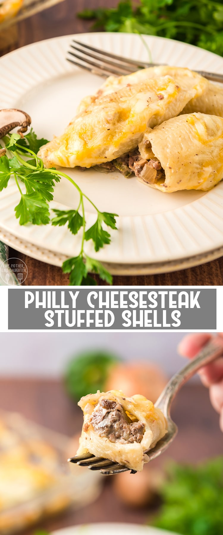 These philly cheese steak stuffed shells have the same great flavors of a philly cheesesteak sandwich, all stuffed in a yummy pasta shell.