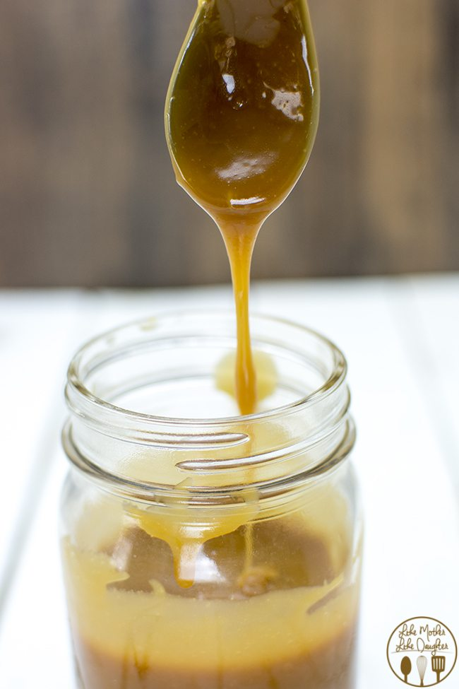 Salted Caramel Sauce - This simple salted caramel sauce is the perfect sweet and salty sauce. So good you'll want to eat it by the spoonful. But it tastes great on ice cream, pie, and more!