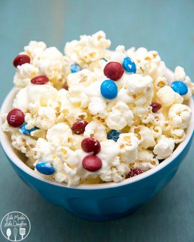 patriotic white chocolate popcorn 6