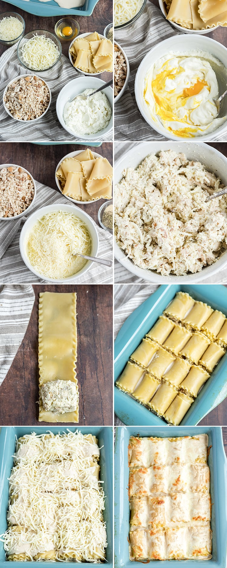 How to make chicken alfredo roll ups