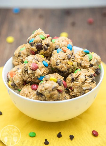 monster cookie granola bar bites 5