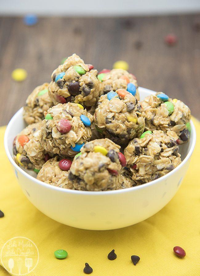 monster cookie granola bar bites 5