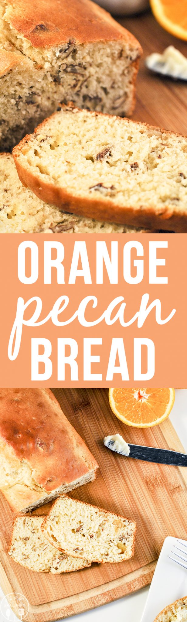 Orange Pecan Bread - A family favorite orange pecan bread with fresh squeezed orange juice, candied orange peels, and chopped pecans that will be sure to become yours too.