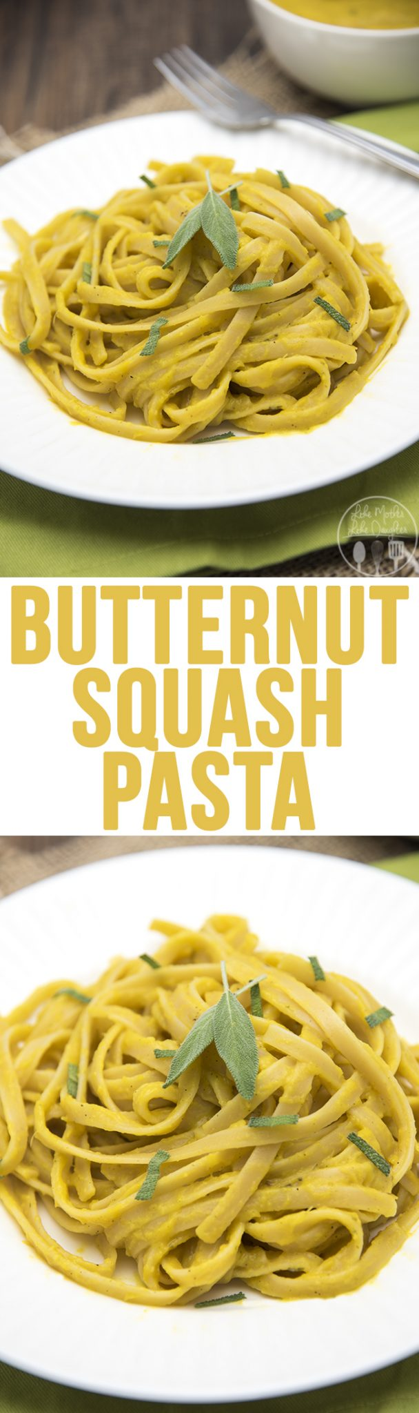 Butternut Squash Pasta - This creamy and flavor packed pasta has the perfect fall flavors packed into a tasty and vegan pasta dish that everyone will love. You won't even miss the meat!