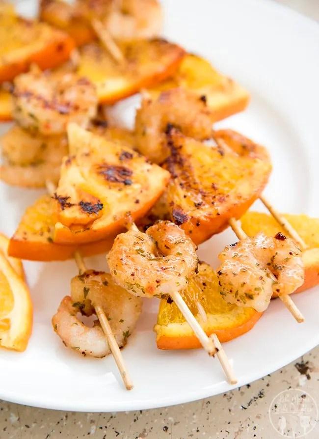 Honey Garlic and Orange Shrimp Kebabs - These flavorful shrimp kebabs are only 4 ingredients thanks to @SeaPak Shrimp & Seafood Co. shrimp scampi. And they're perfect for an appetizer or part of a main dish!