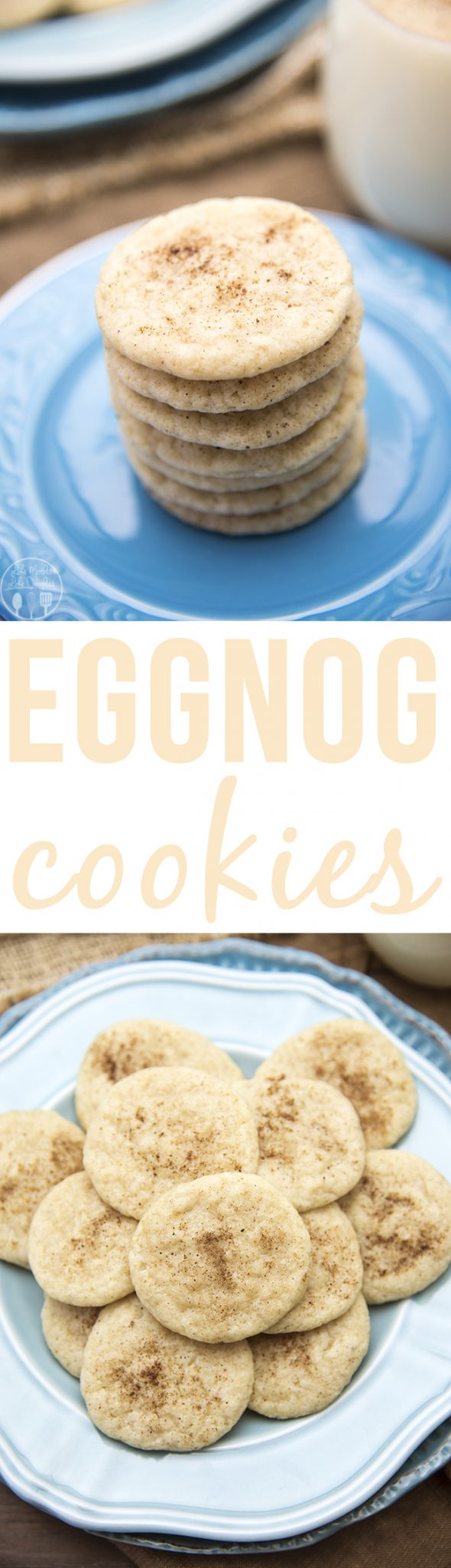 Eggnog cookies have the great taste of eggnog in a cookie! With eggnog, cinnamon and nutmeg these are a delicious seasonal cookie!