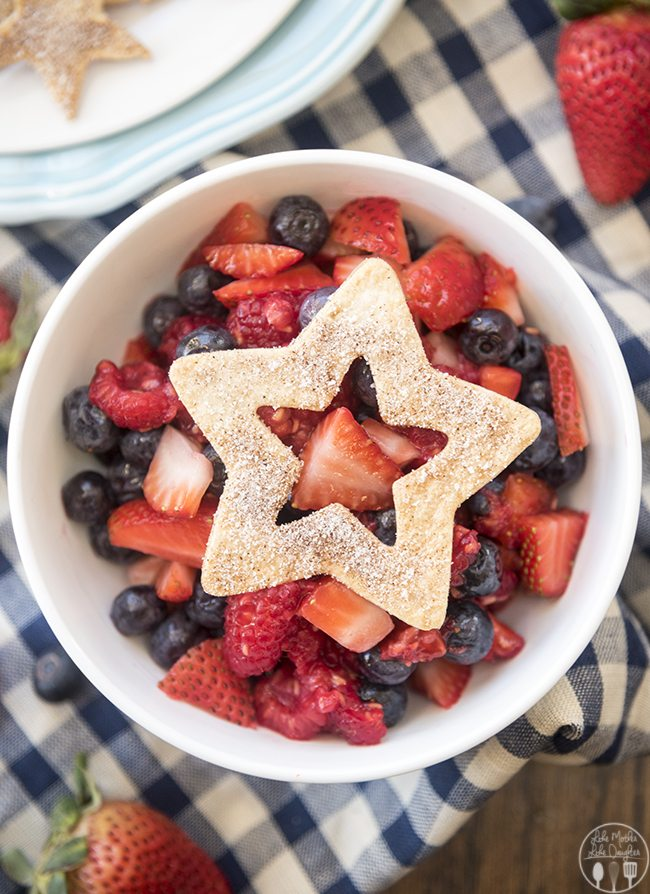 Berry Salsa and Cinnamon Chips - This amazing berry salsa is only 5 ingredients for a simple, lighter dessert. Its sweetened with SPLENDA® Granulated and served with crunchy homemade cinnamon chips. This sweet salsa will be the hit of any party!