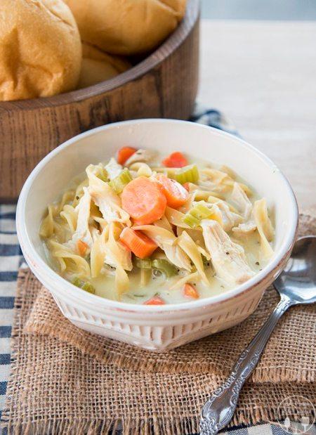 creamy chicken noodle soup 4