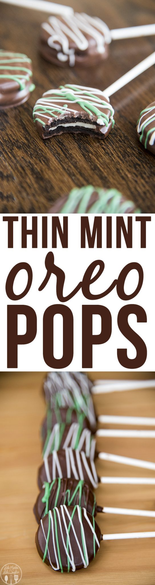 Thin Mint Oreo Pops - crunchy oreos dipped in minty chocolate and served on a stick. Great for an amazing treat everyone will love!