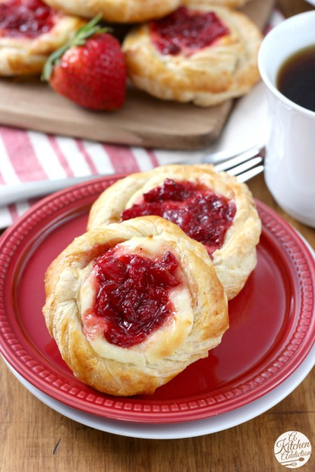 Strawberries and Cream Danishes WM