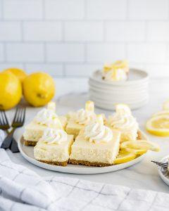Lemon Cheesecake Bars on a plate