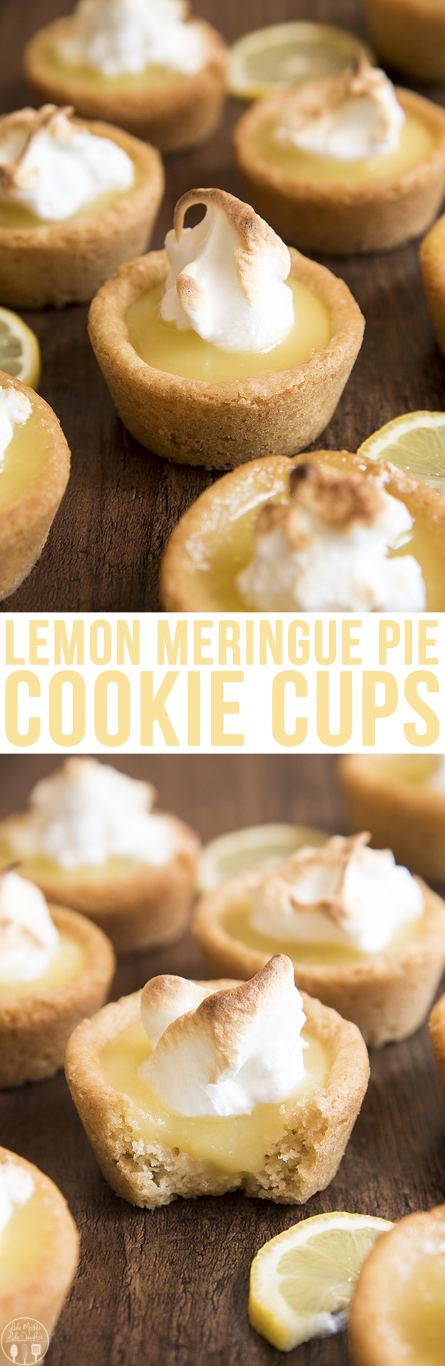 Lemon Meringue Pie Cookie Cups - These lemon meringue pie cookie cups start with a sugar cookie base, lemon curd filling and a quick meringue topping for a perfect refreshing dessert. You won't be able to stop after just one!