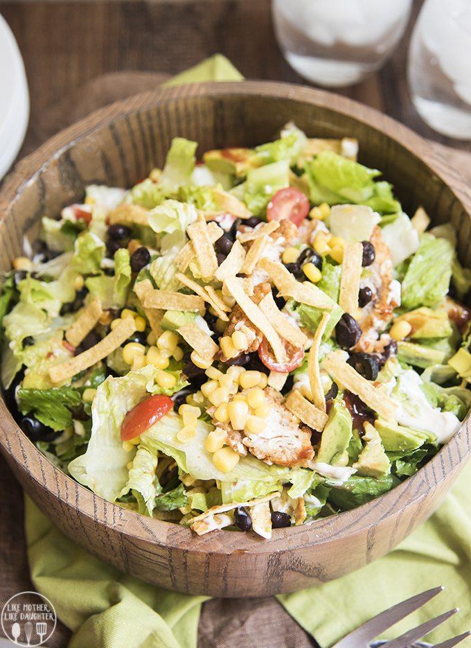 bbq ranch chicken salad 1