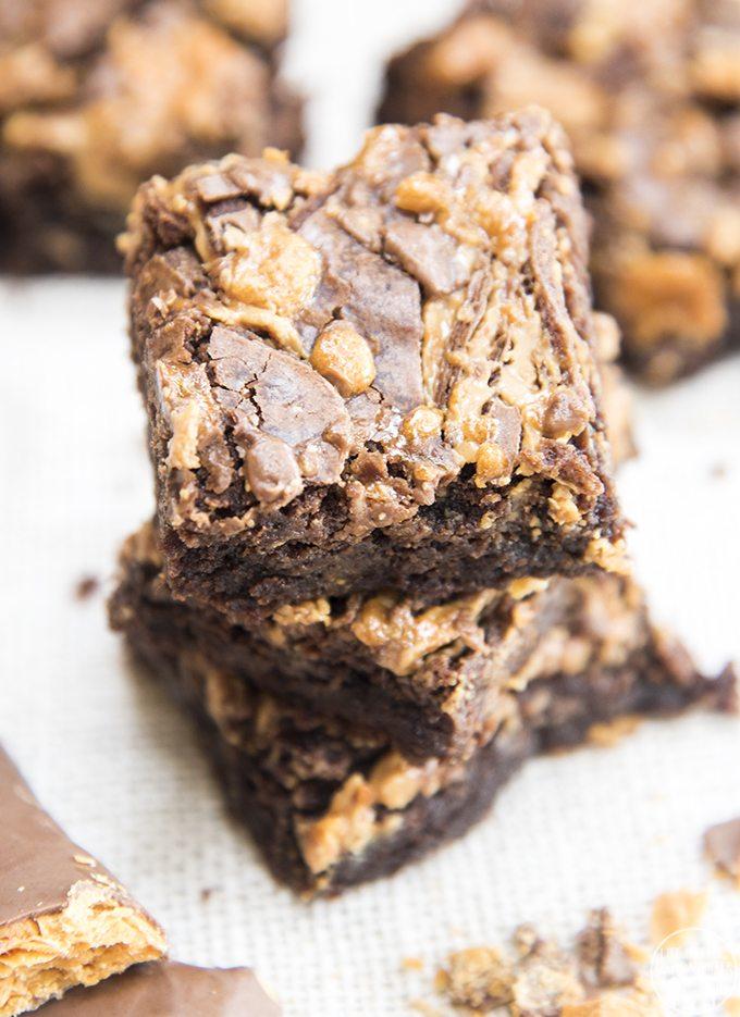 butterfinger brownies 4