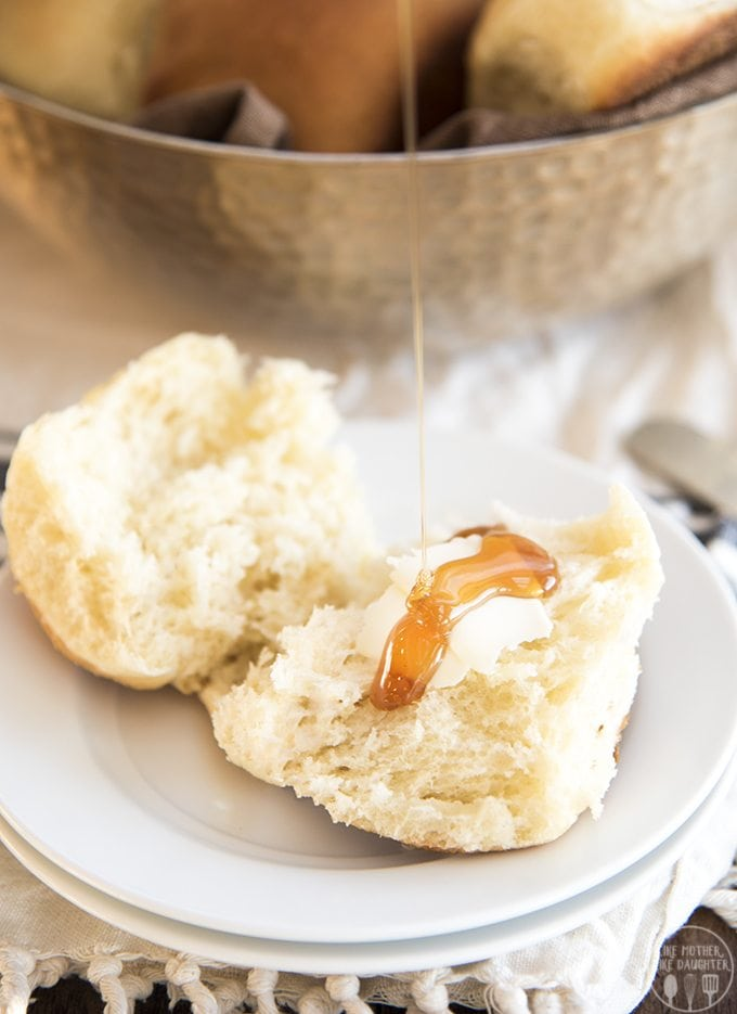 These potato rolls have mashed potatoes added right into the dough to make them extra soft and fluffy. They're the most delicious rolls and your family will love them with any dinner you serve them with!