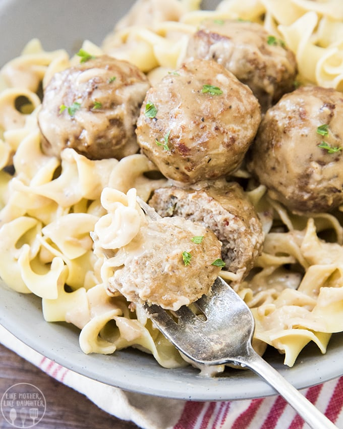 Easy Swedish meatballs are covered in a rich and creamy sauce and ready in only about 15 minutes!