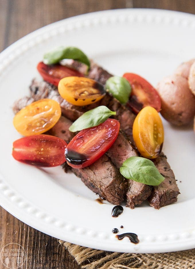This easy Flank Steak Marinade gives your flank steak such a delicious flavor, with the most tender meat, cooked to perfection. So good served up with some veggies or potatoes.