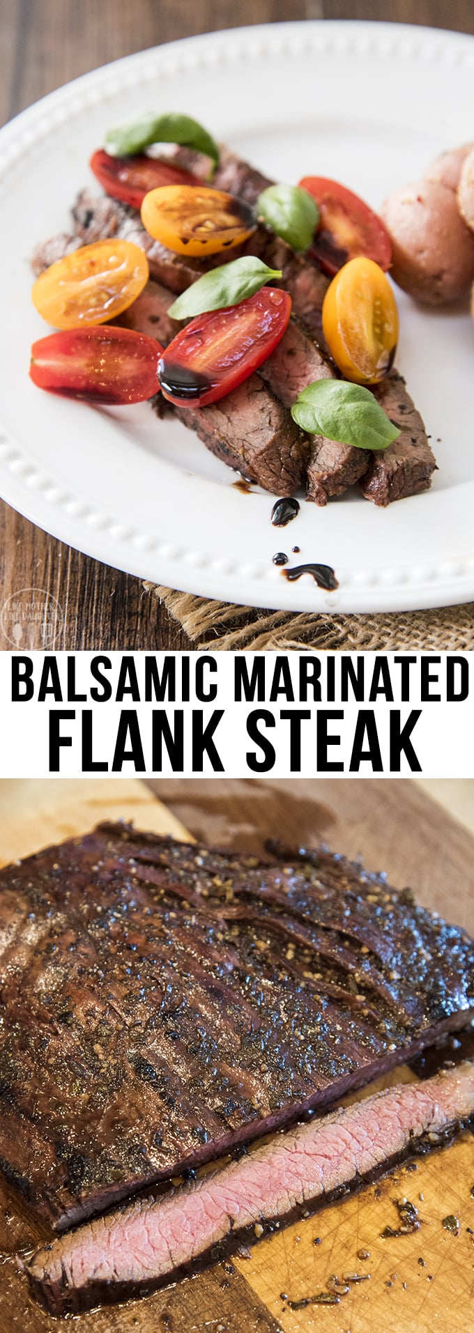 This balsamic marinated flank steak is packed full of delicious flavor, with the most tender meat cooked to perfection. Perfect served up with some veggies or potatoes.