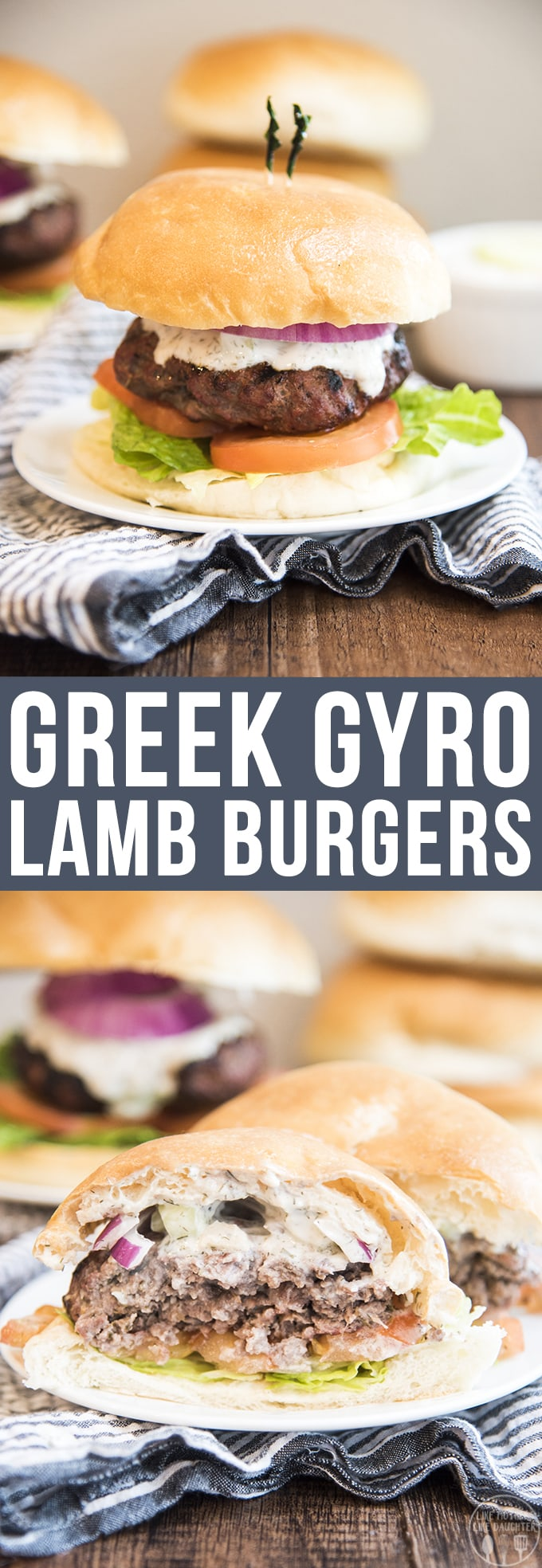 These delicious Greek gyro lamb burgers have the same great flavors of a gyro in burger form. With a perfectly seasoned grilled lamb burger topped with homemade tzatziki sauce.