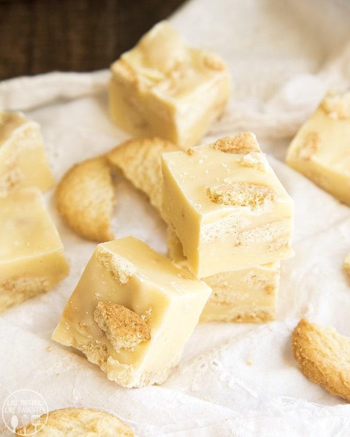 Lemon Fudge is stuffed full of lemon cookies for the perfect lemon flavor all year long!