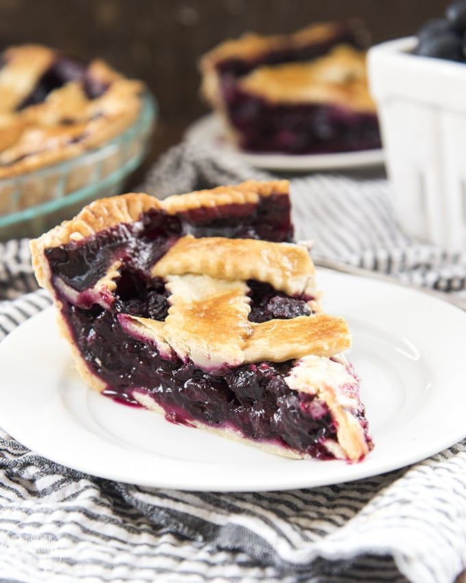 A buttery flaky crust and the best blueberry pie filling
