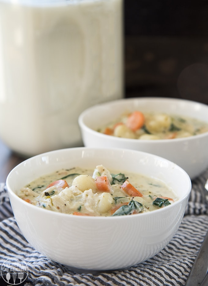 Creamy Chicken Soup with Gnocchi