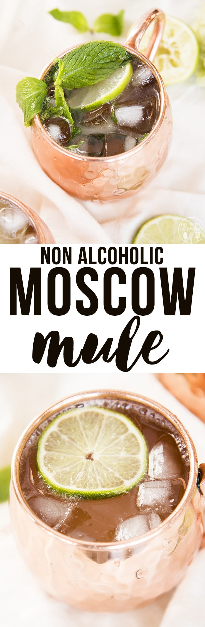 Non Alcoholic Moscow Mule is the perfect spicy and refreshing mocktail, perfect for a hot summer night or a winter holiday party!