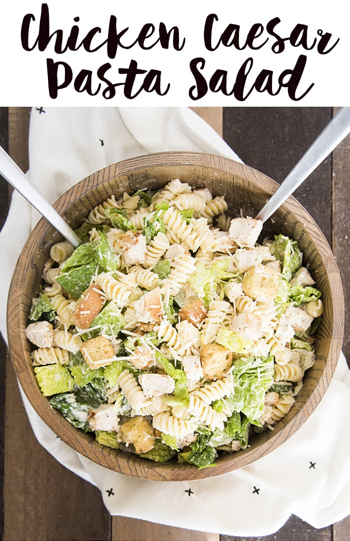 Chicken Caesar Salad With Pasta