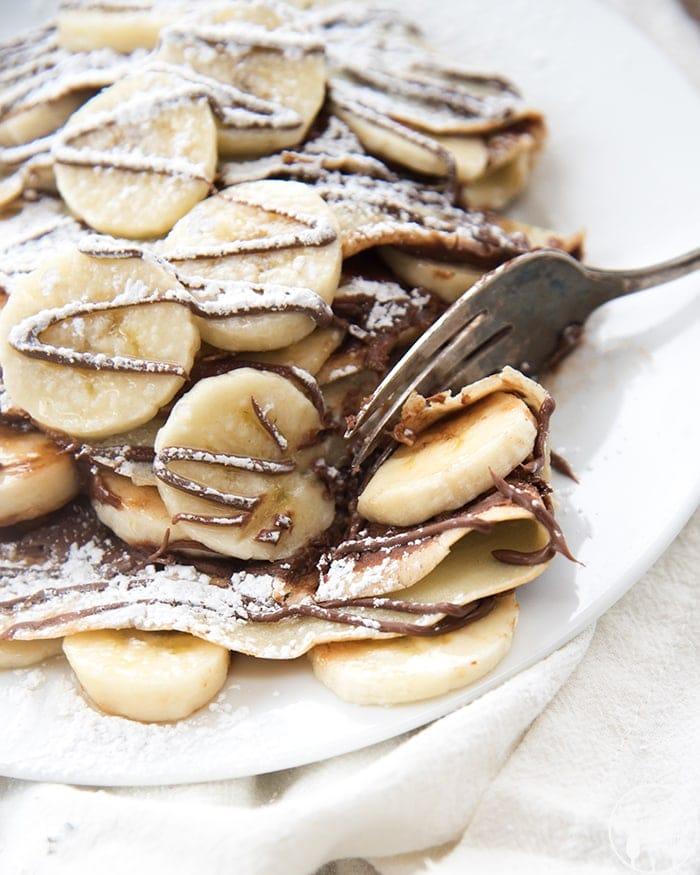 Banana Nutella Crepes Like Mother Like Daughter