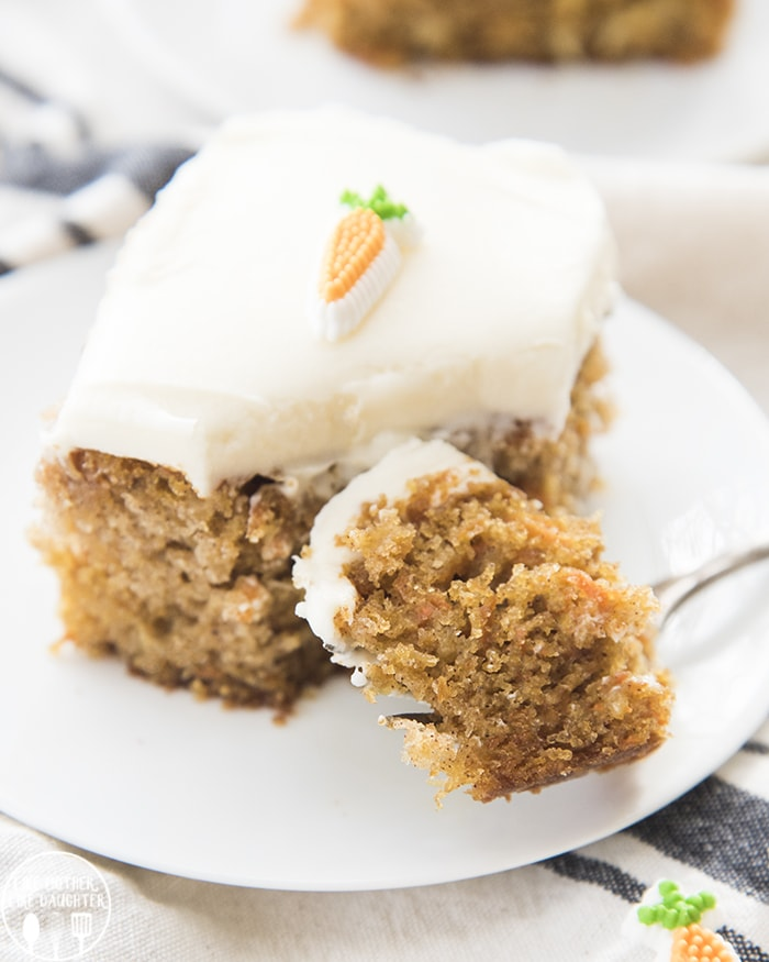 Carrot cake made in a 9x13 pan