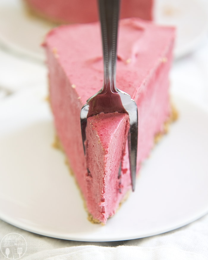 Frozen Raspberries and Cream Pie