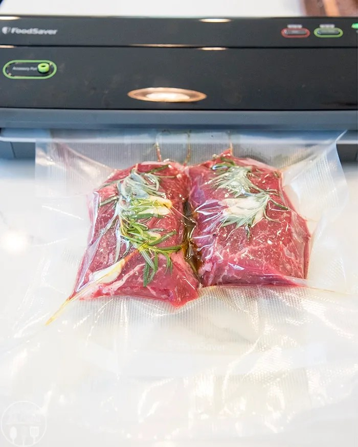 The perfect way to get a juicy flavorful steak with Food Saver Vacuum Sealed Bags and a Sous Vide!
