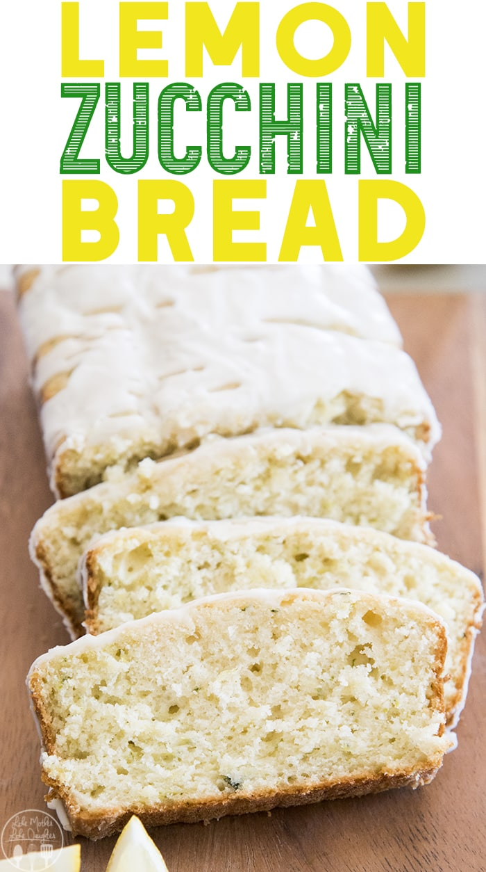 Lemon Zucchini Bread is the perfect twist on traditional zucchini bread with a light citrus taste throughout and topped with a sweet lemon glaze!