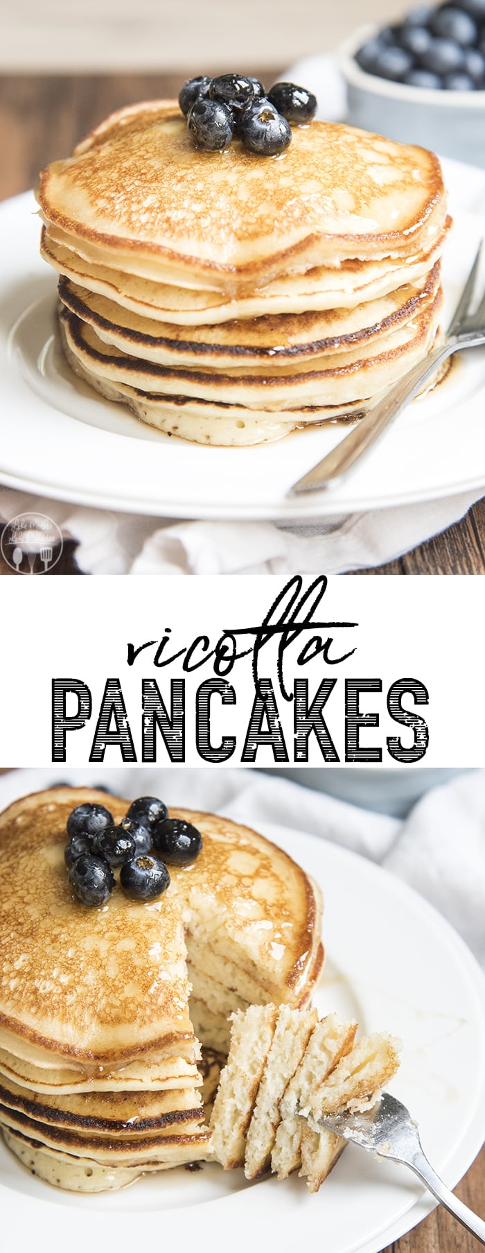 Ricotta pancakes are perfectly light, moist, and fluffy, and so smooth they melt in your mouth. Perfect for breakfast or brunch!