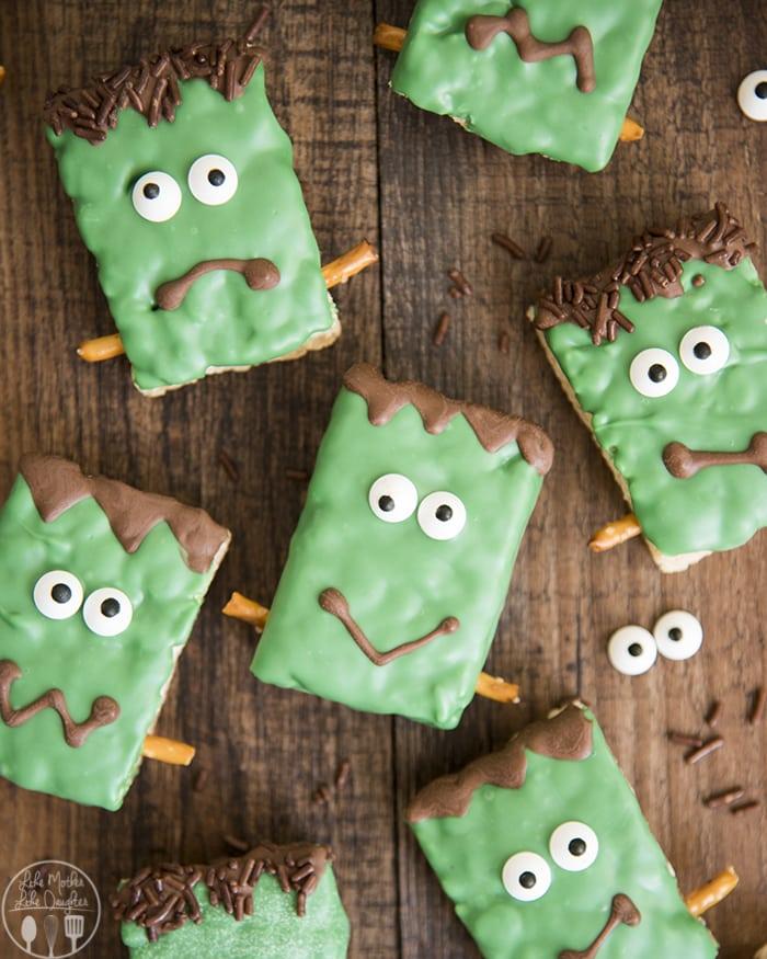 Frankenstein Monster Rice Krispie Treats