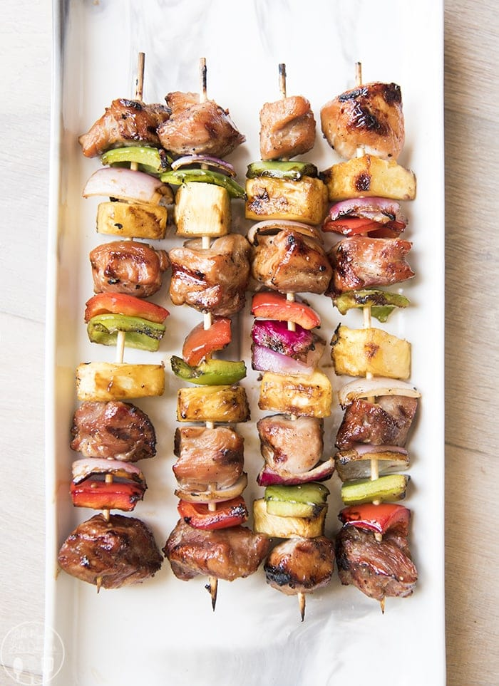 Grilled Teriyaki Pork Kabobs