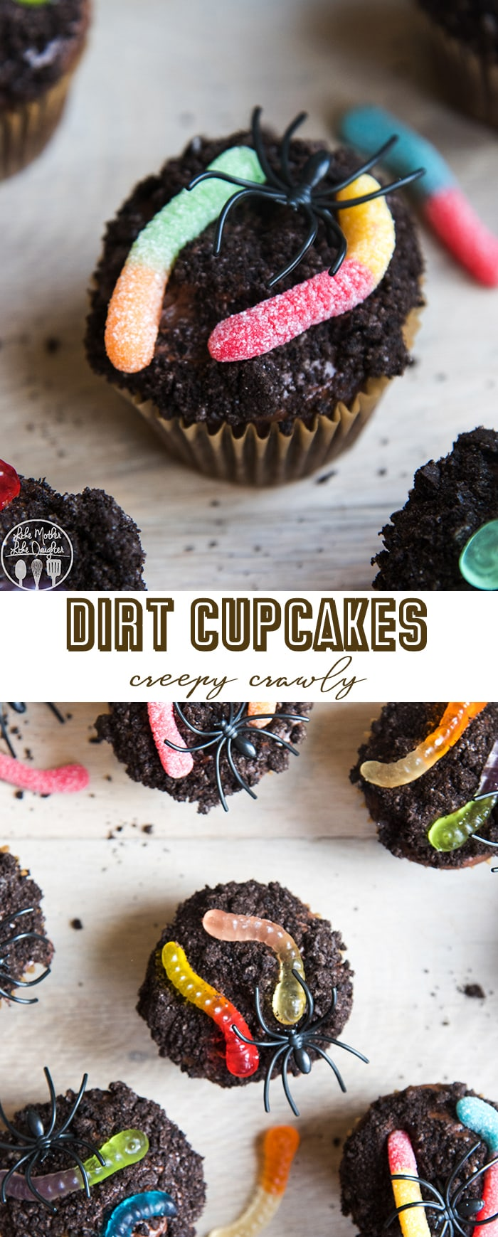 Dirt cupcakes are a delicious chocolate cupcake with chocolate frosting